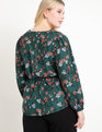 Twist Front Peplum Blouse Ever Floral