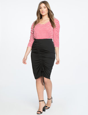 Pencil Skirt with Gathering