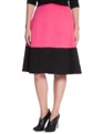 Colorblock Midi Pink Pansy with Black