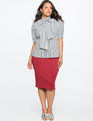 Neoprene Pencil Skirt Sugar Beet