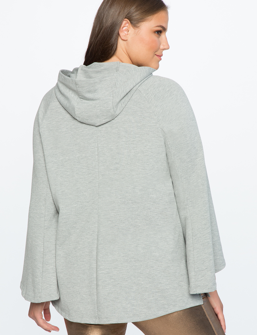 Flare Sleeve Hooded Sweatshirt