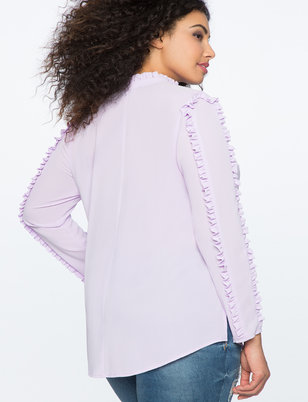 Ruffle Detail Tunic Top