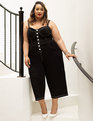 Jumpsuit with Contrast Stitching Black