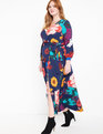 Wrap Maxi Dress Navy Floral