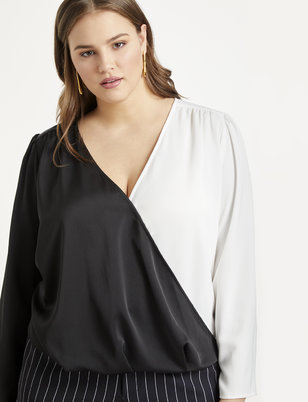 Draped Cross Front Top