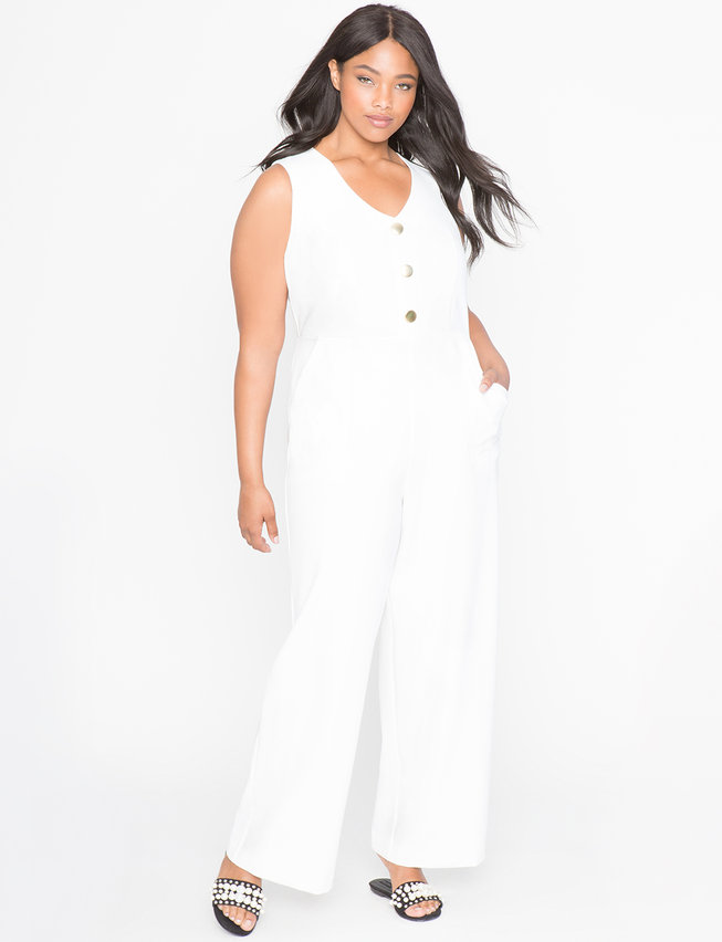 Wide Leg Jumpsuit Womens Plus Size Dresses Eloquii