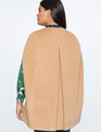 Camel Cape Coat Dark Camel