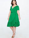 Ruffle Hem Wrap Dress Sweet Basil