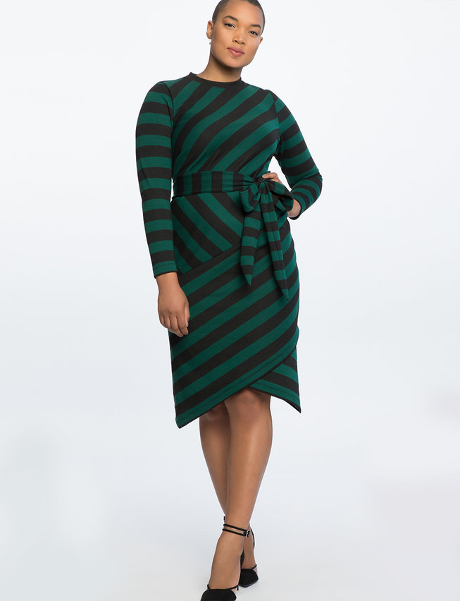 Blocked Stripe Dress