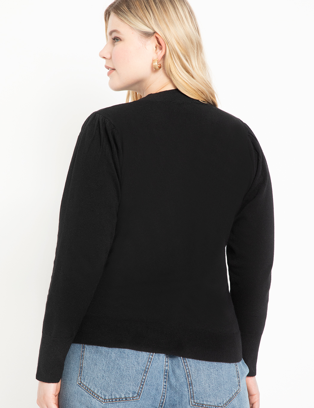 Sweater with Tie Neck