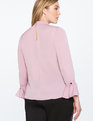 Bow Blouse with Flare Sleeve Orchid Haze