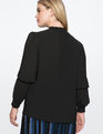 Smocked Neck Top Totally Black
