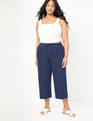Cropped Pant with Tie Navy