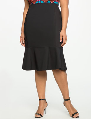 Flounce Pencil Skirt