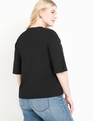 Snap Sleeve Tee Black