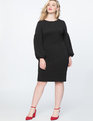 Puff Sleeve Bodycon Dress Totally Black