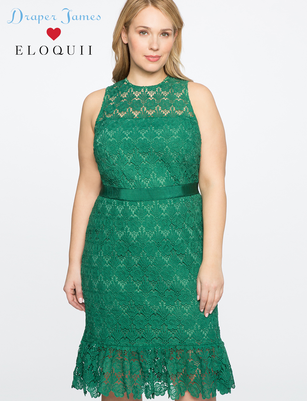 54ee1bf814 Draper James for ELOQUII Lace Dress with Sash | Women's Plus Size ...