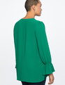 Tunic with Tie Cuff Verdant Green