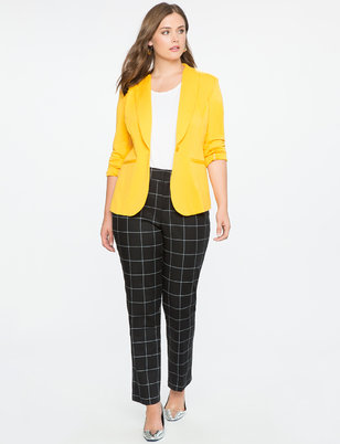 Windowpane Print Kady Pant