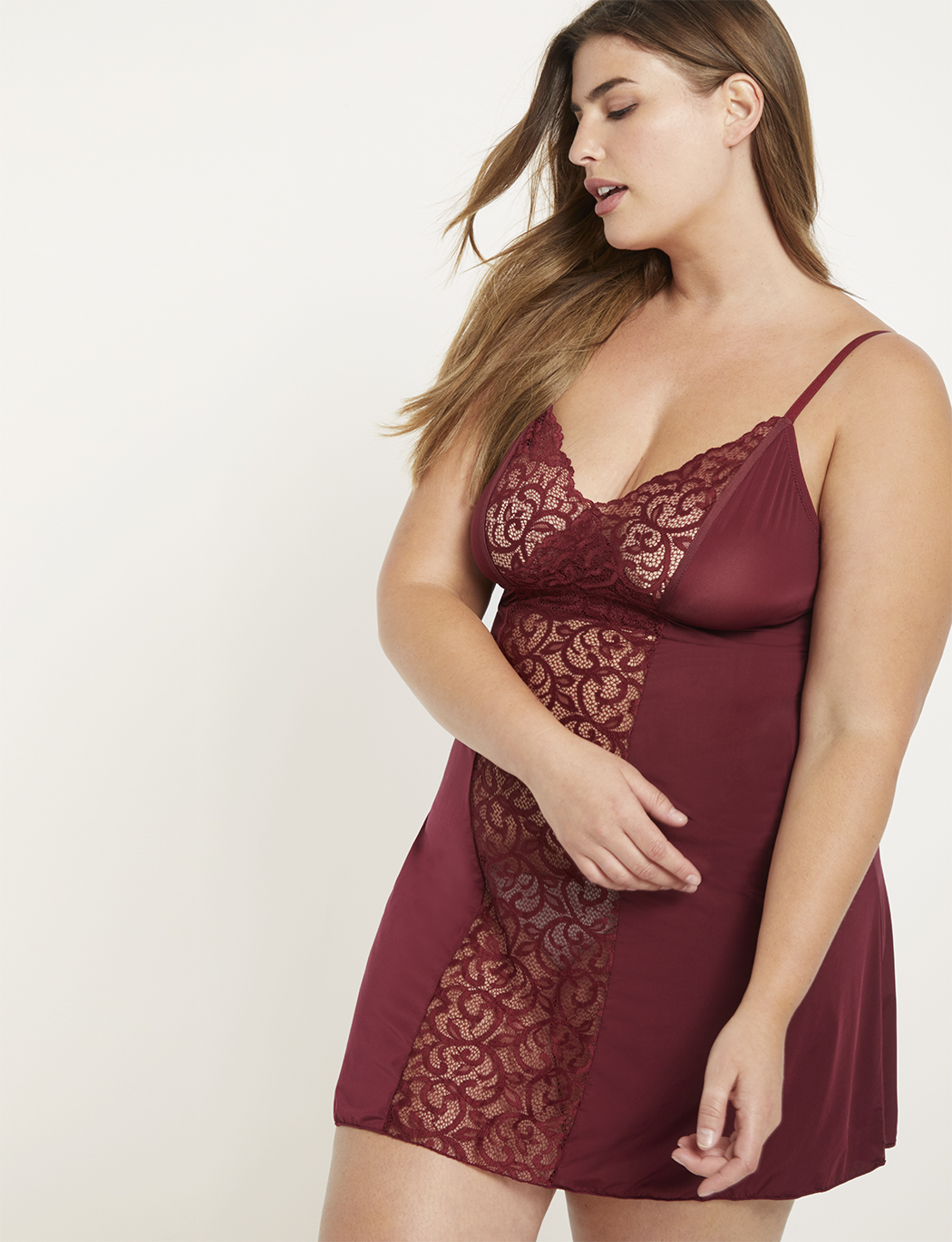 Babydoll with Lace Panels