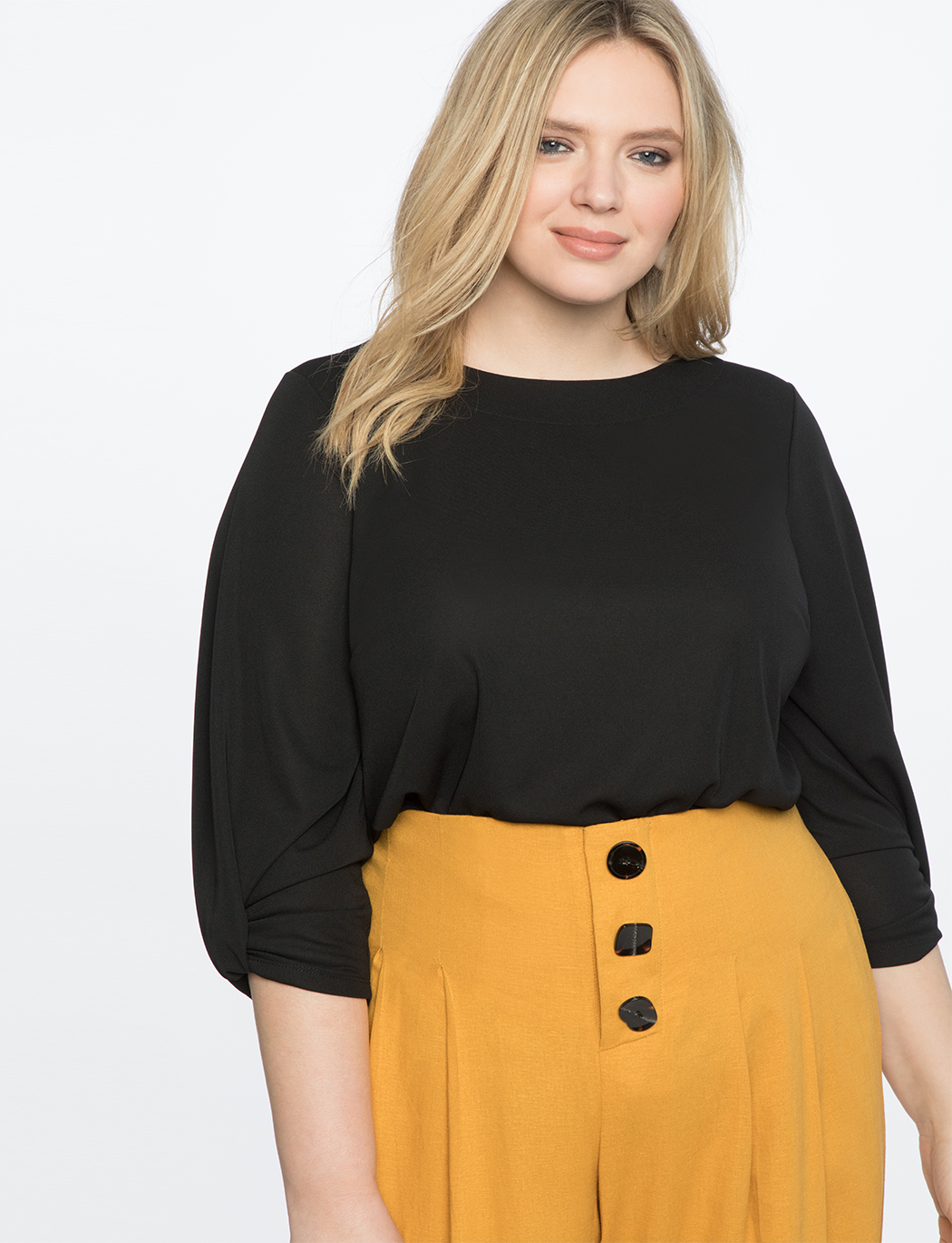 9-to-5 Draped Sleeve Top