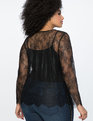 Lace Long Sleeve Top Totally Black