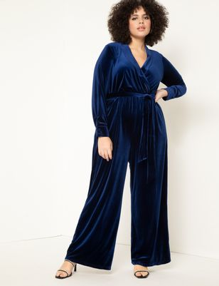 Velvet Wide Leg Jumpsuit