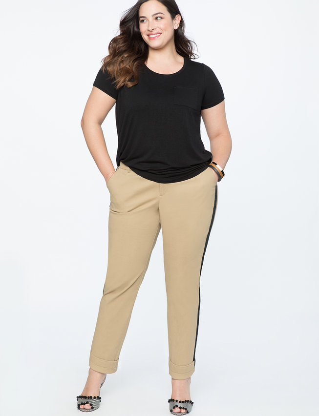 Crop Trouser with Side Stripe