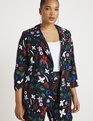 Printed Two Button Blazer Bright On Cue