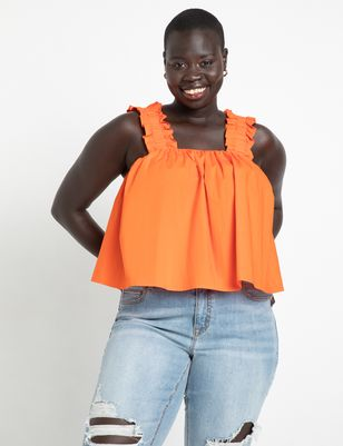 Trapeze Top With Ruffle Straps