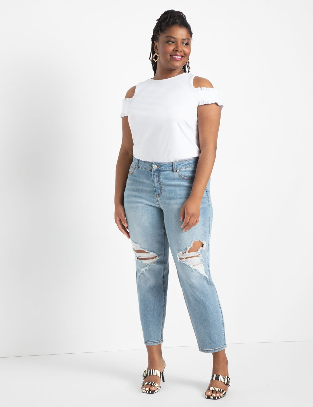 Open Shoulder Tee