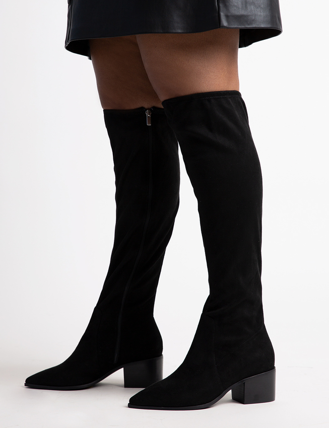 plus size fall black over the knee boots