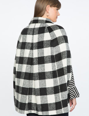 Draper James for ELOQUII Buffalo Check Cape