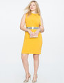 Structured Bow Detail Dress LEMON SHINE