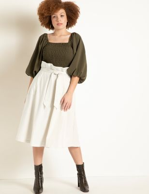 Full Linen Skirt with Belt