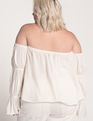 Off The Shoulder Top Soft White
