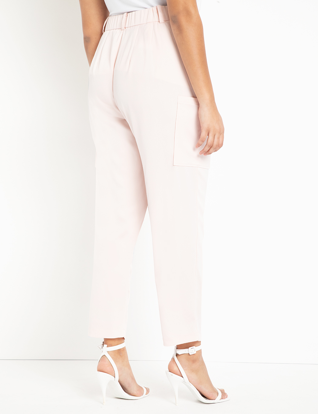 Satin Pant with Patch Pockets