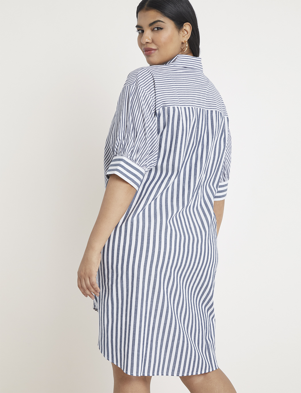 Contrast Stripe High-Low Dress