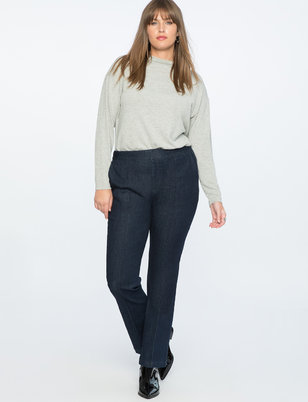 Flare Leg Denim Trouser