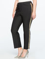 Kady-Fit Double-Weave with Metallic Stripe Black / Gold