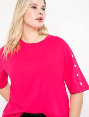 Snap Sleeve Tee