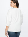 Placket Sleeve Top Soft White