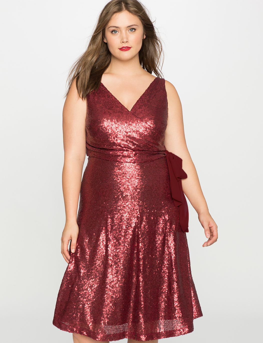 Sleeveless Sequin Wrap Dress  7545bee36f