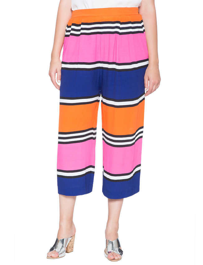 Striped Soft Cropped Pant