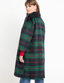 Plaid Car Coat Green Plaid