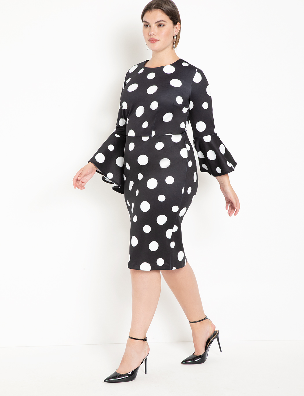 Flare Sleeve Scuba Dress 5