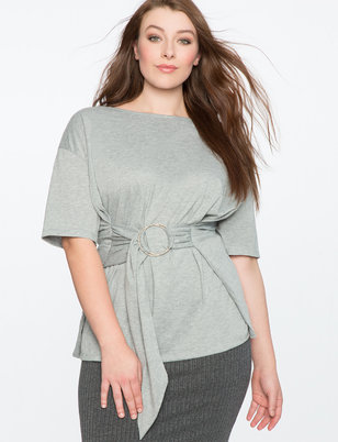 Belted Short Sleeve Tee