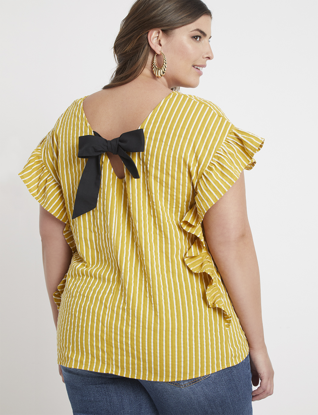 1be7156c497359 Bow Back Stripe Top | Women's Plus Size Tops | ELOQUII