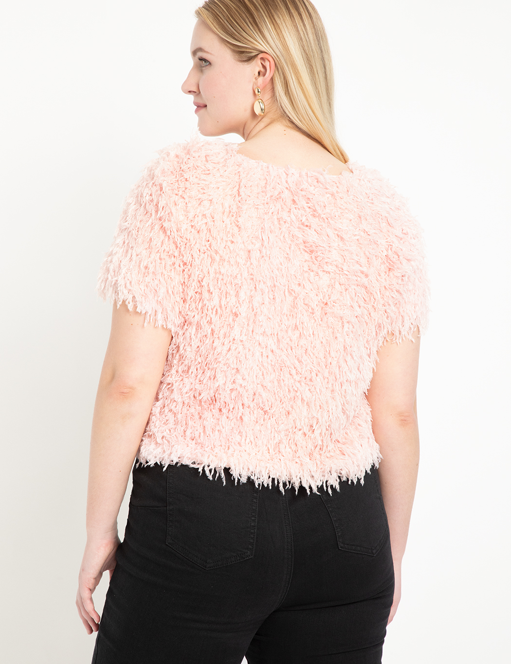 Faux Feather Crop Top