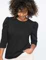 Dramatic Puff Sleeve Tee BLACK